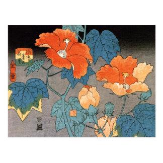 Hibiscus Ando Hiroshige Postcard