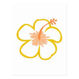hibiscus applique postcard