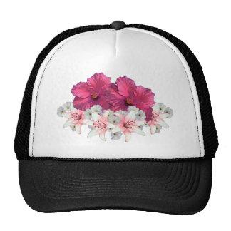 Hibiscus arrangement trucker hat