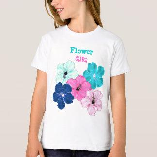 Hibiscus Art Flower Girl Tee Shirt