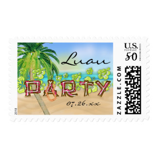 Hibiscus Beach Tropical Summer Party Stamp Postage