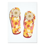 Hibiscus Beaded Flip Flops 5x7 Paper Invitation Card