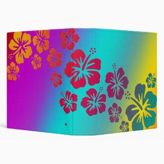 hibiscus blooms | coloured background vinyl binders