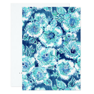 HIBISCUS BOUNTY Blue Tropical Hawaiian Floral Card