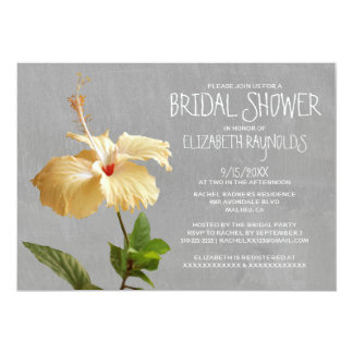 Hibiscus Bridal Shower Invitations Personalized Announcement
