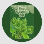 Hibiscus Buds Happy St Patrick's Day Stickers