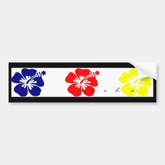hibiscus bumper sticker