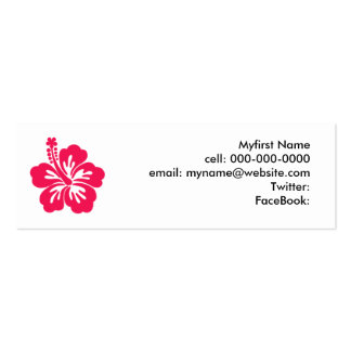 Hibiscus Double-Sided Mini Business Cards (Pack Of 20)