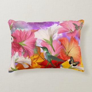 Hibiscus Butterflies Accent Pillow