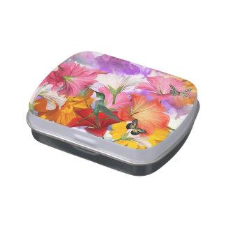 Hibiscus Butterflies Candy Tin