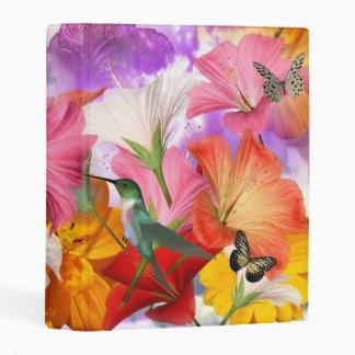 Hibiscus Butterflies Mini Binder