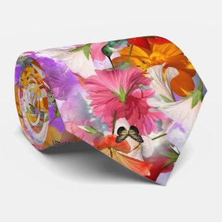 Hibiscus Butterflies Tie