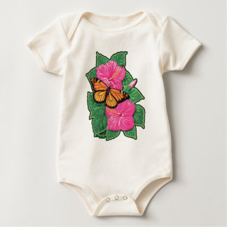 Hibiscus & Butterfly Baby Bodysuit