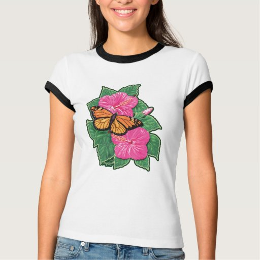 Hibiscus & Butterfly T-shirts
