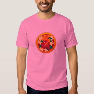 Hibiscus Button T-Shirt
