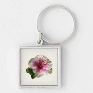 Hibiscus Candy Striper Keychains