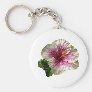 Hibiscus Candy Striper Keychain