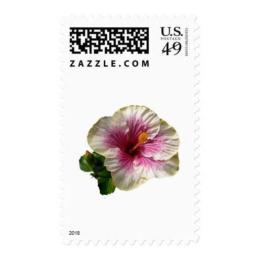Hibiscus Candy Striper Postage Stamps