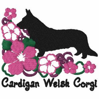 Hibiscus Cardigan Welsh Corgi Embroidered Hoody