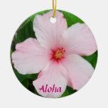 Hibiscus Christmas ornament