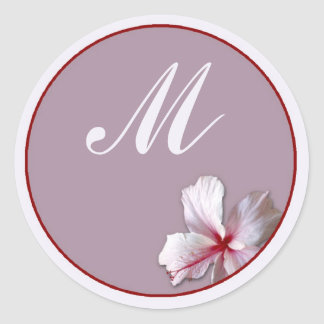 Hibiscus Classic Round Sticker