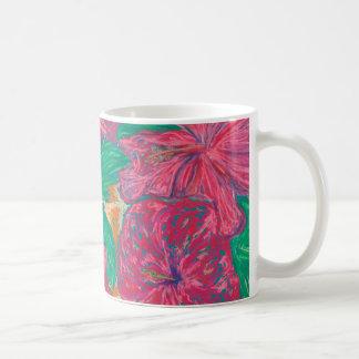 Hibiscus Classic White Mug