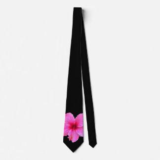 Hibiscus Closeup Neck Tie