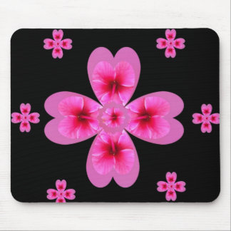 Hibiscus Clover Mouse Pad