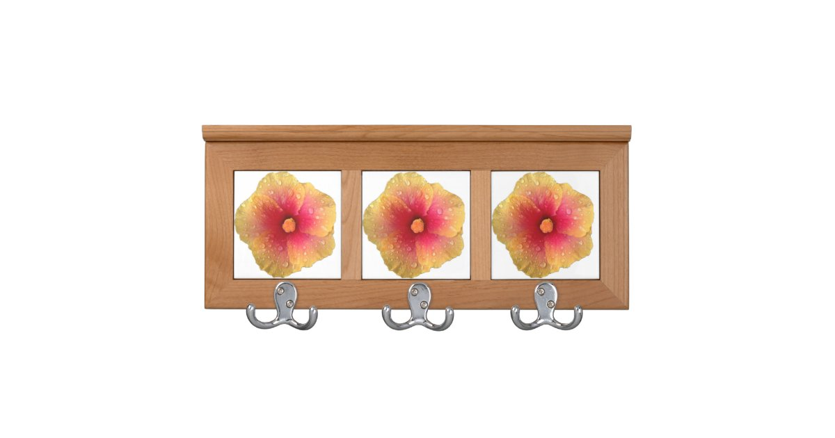 Hibiscus Coat Rack