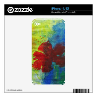 hibiscus decals for the iPhone 4S