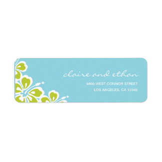 Hibiscus Delight Address Label Labels