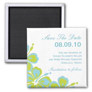 Hibiscus Delight Save The Date Magnets