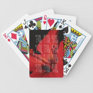 Hibiscus Detail; 2013 Calendar Bicycle Playing Cards