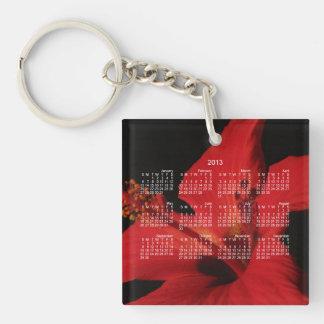 Hibiscus Detail; 2013 Calendar Keychain