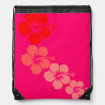 Hibiscus Drawstring Bag