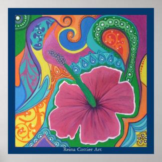 Hibiscus Dream Poster