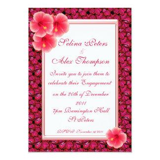 Hibiscus Engagement Invitation