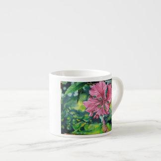 Hibiscus EspressoMug 6 Oz Ceramic Espresso Cup