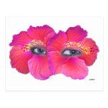 Hibiscus Eyes - Pink Post Card