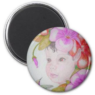 Hibiscus Fairy (2) 2 Inch Round Magnet