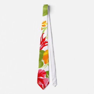 Hibiscus Fiesta Floral Tropical tie