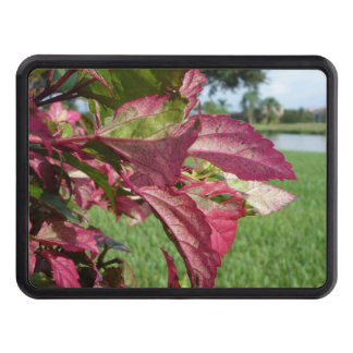 """Hibiscus """"Fire and Ice"""" Plant Tow Hitch Cover"""