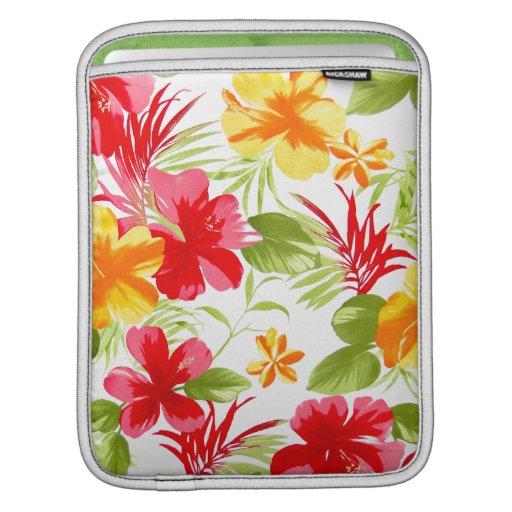 Hibiscus Floral Fiesta iPad sleeve