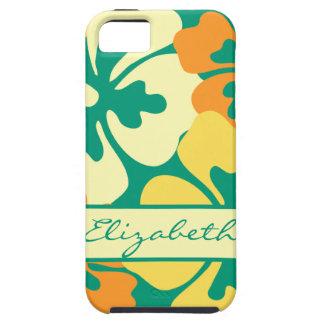 Hibiscus Floral Pattern Monogram iPhone SE/5/5s Case