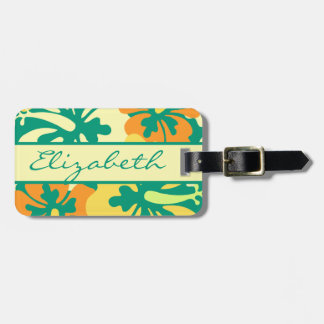 Hibiscus Floral Personalize and Address Bag Tag