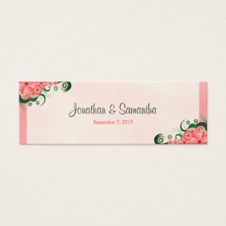 Hibiscus Floral Pink Wedding Favour Favor Tags
