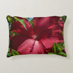 Hibiscus Flower and Blue Sky Summer Nature Photo Decorative Pillow