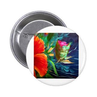 Hibiscus Flower Art 2 Inch Round Button