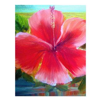 """Hibiscus Flower Art 8.5"""" X 11"""" Flyer"""
