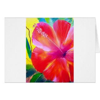 Hibiscus Flower Art Card